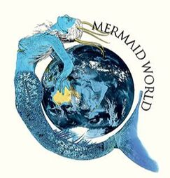 WillowRaven's MERMAID WORLD logo for Vegas Luna's book series - Logos, Banners & Avatars prompt