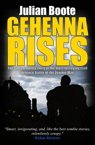 WillowRaven's book cover art and design for Julian Boote's book, GEHENNA RISES