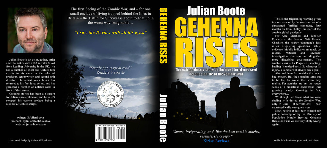 WillowRaven's book dust jacket art and design for Julian Boote's book, GEHENNA RISES