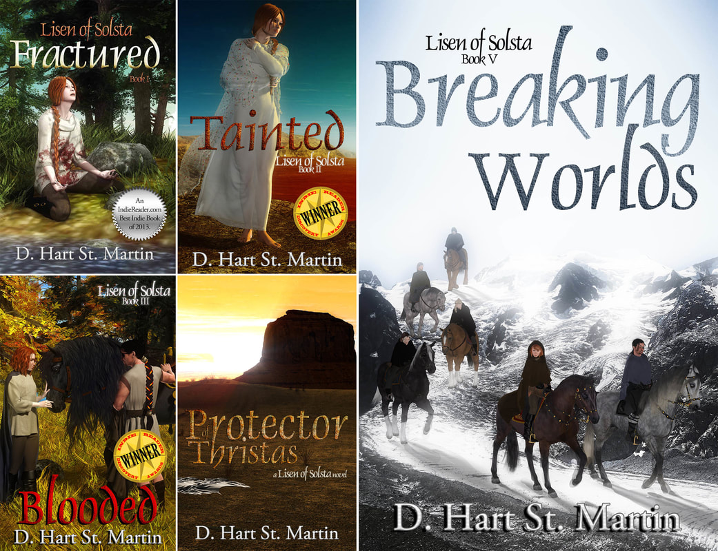 WillowRaven's book covers for LISEN OF SOLTA book series, by D. Hart St. Martin