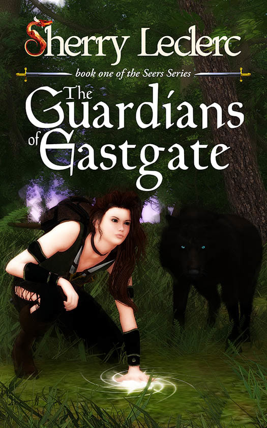 WillowRaven's book cover art and design for Sherry Leclerc's The Guardians of Eastgate, book one of the Seers Series